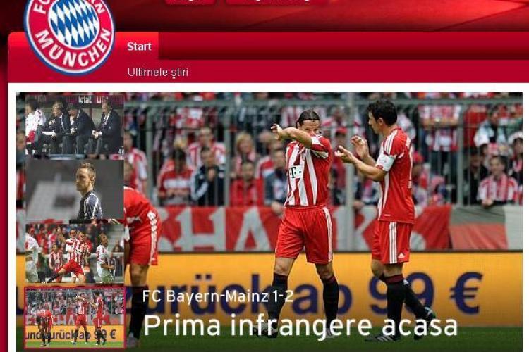 Bayern, adversara CFR Cluj din Liga Campionilor, a lansat pe site o sectiune dedicata fanilor romani