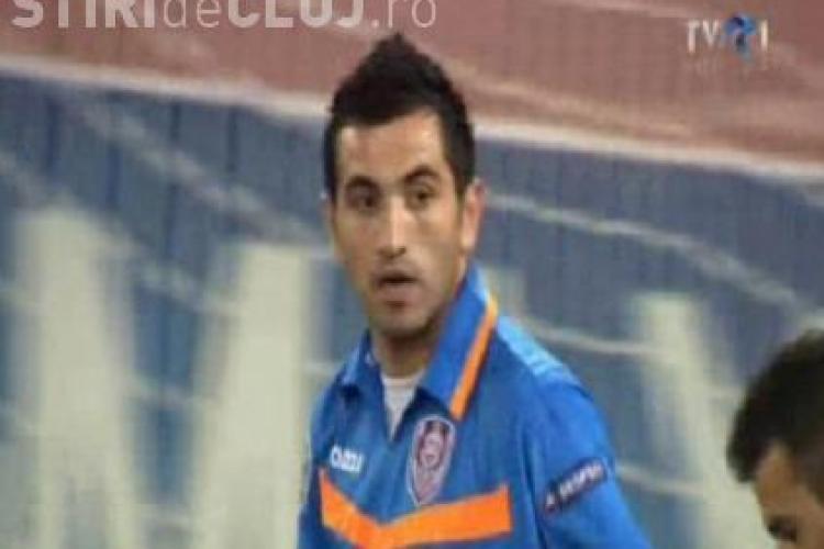 Nuno Claro, ingerul pazitor al CFR Cluj in prima repriza. Portarul a scos trei goluri ca si facute - VIDEO