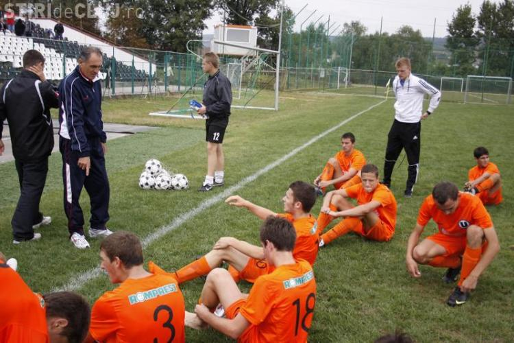Juniorii A si B de la U Cluj au invins la scor FC Ariesul Turda