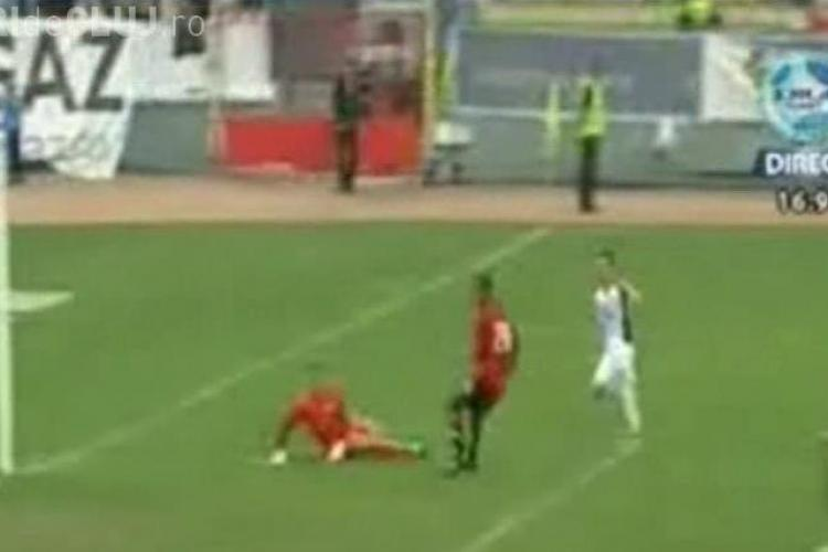 Vezi golul lui Alex Munteanu - U Cluj - Gaz Metan Medias 0-2 - VIDEO
