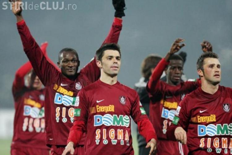 CFR Cluj infrunta FCM Targu Mures, duminica de la ora 18.00