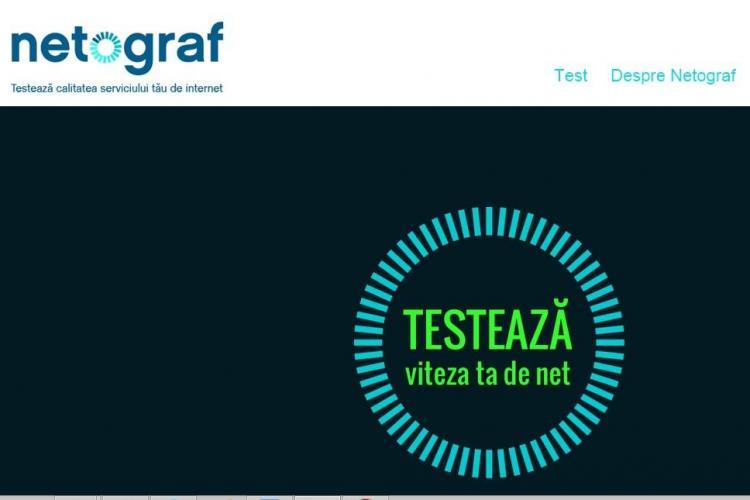 Netograf.ro este aplicația care testează viteza de internet din România