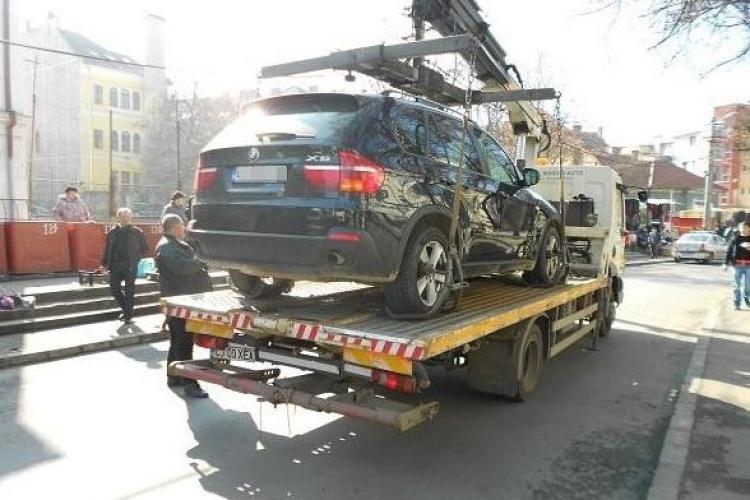 Razie la parcările din centrul Clujului! Șoferii au fost prinși pe nepregătite