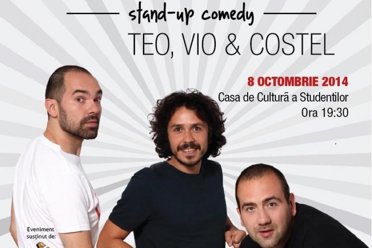 Stand-up comedy cu Teo, Vio și Costel la TIMAF. Vezi când va avea loc evenimentul
