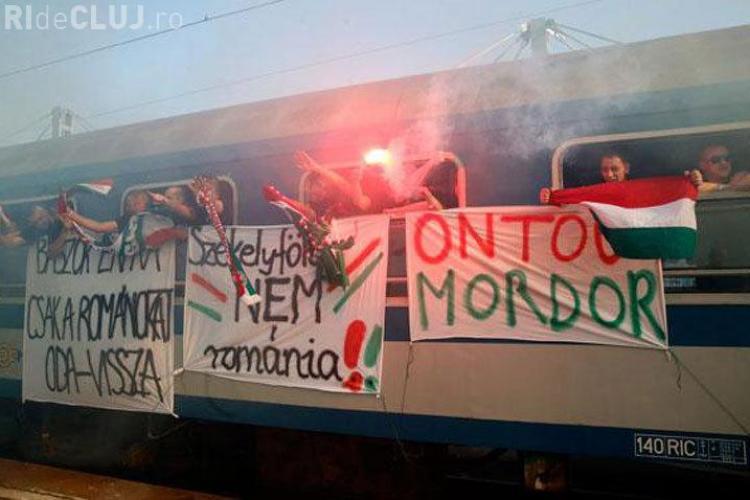 Fanii Ungariei au venit în România cu mesaje extremiste