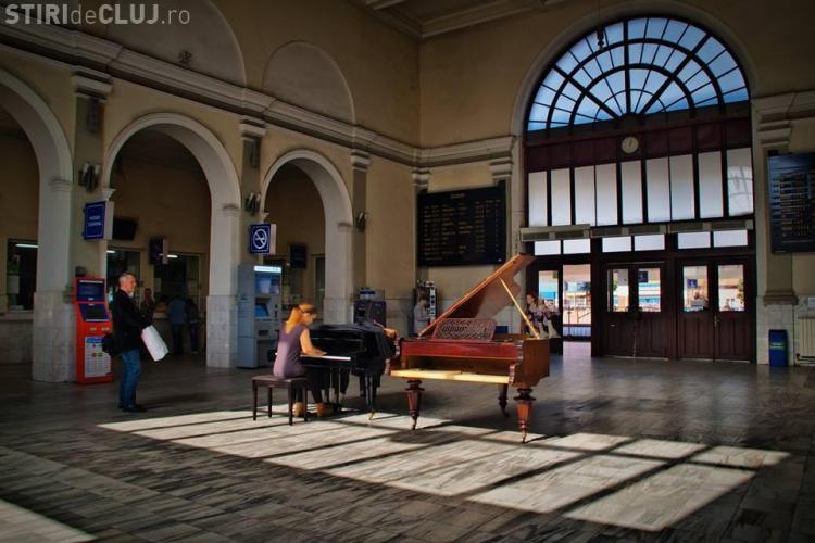 Gara Cluj a prins viață! Au fost concerte și expoziții în Piața Gării și în Gară