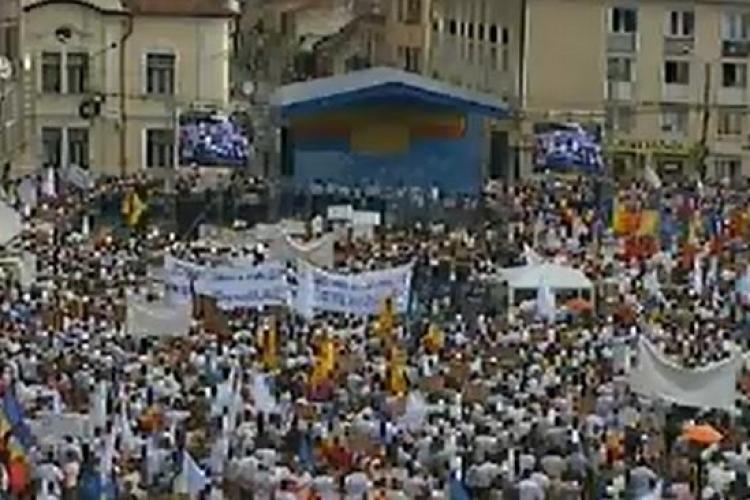 Cluj - Piața Lucian Blaga se închide DOUĂ ZILE pentru un miting electoral