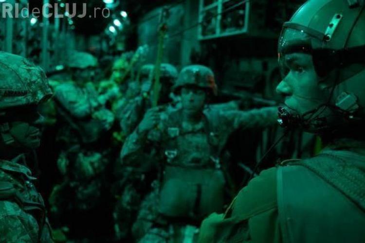 Parașutiștii americani au demonstrat că pot ajunge la Câmpia Turzii în câteva ore - FOTO