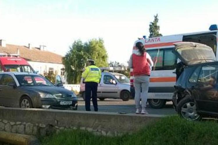 Accident mortal la Turda! Un șofer a făcut infarct la volan și a intrat din plin în alt autoturism