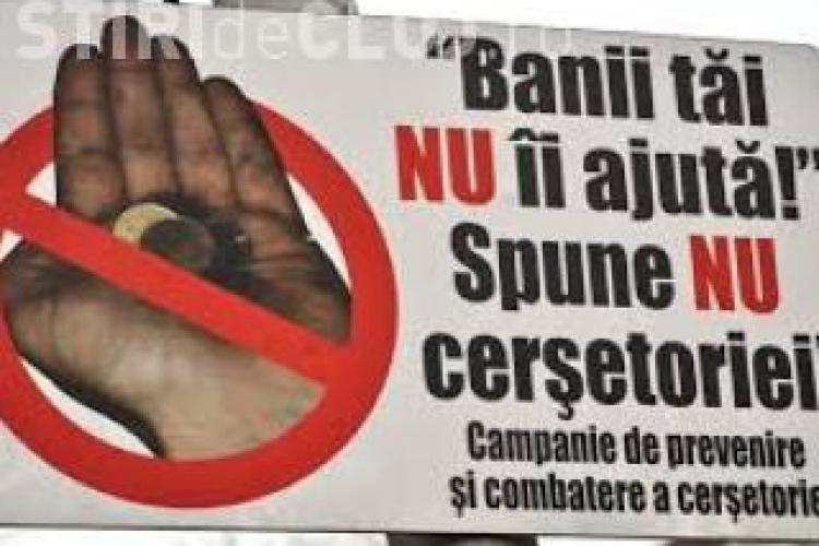 Primăria Cluj-Napoca a cumpărat 10.000 de stickere pentru combaterea cerșetoriei