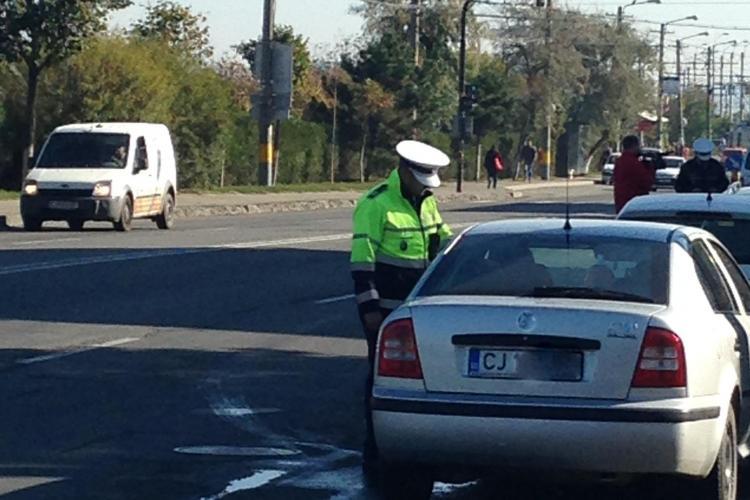 Razie în trafic la Cluj! Șoferii care nu poartă centura au fost sancționați dur FOTO