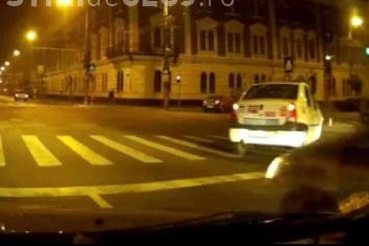 Taximetriști clujeni prinși circulând fără să le pese de lege VIDEO