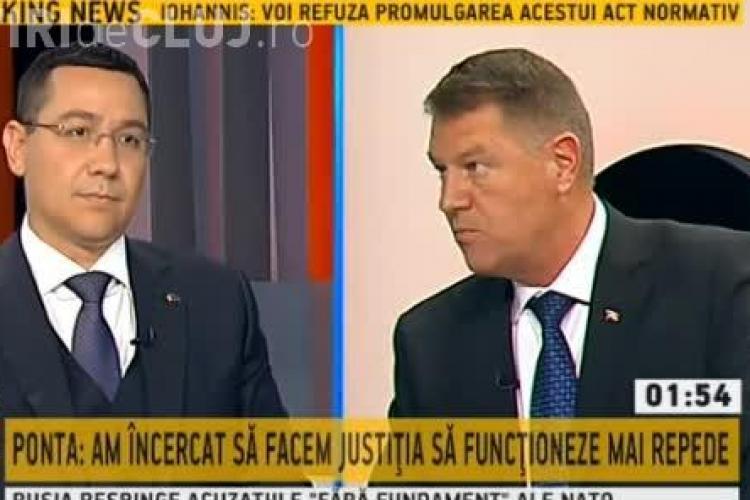 Cine a câștigat dezbaterea Ponta - Iohannis de la B1 TV! Replici DURE