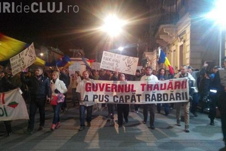 Clujul a devenit Capitala României în protestele Anti - Ponta. Vezi explicațiile