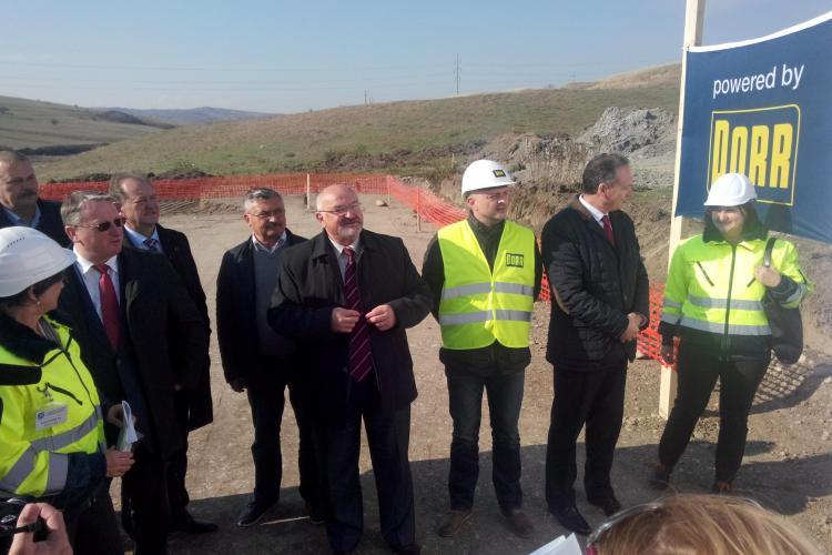 S-a deschis șantierul autostrăzii Turda-Sebeș (lotul 4) - FOTO