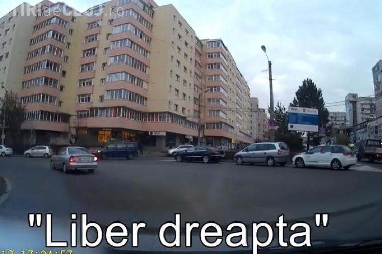 Să-și lase permisul acasă! O șoferiță a intrat într-o mașină pe strada Primăverii - VIDEO cu accidentul