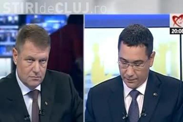 Dezbatere Iohannis - Ponta: Aveți atitudine de moșier. Iohannis: Cu coada între picioare va pleca cel care pierde alegerile