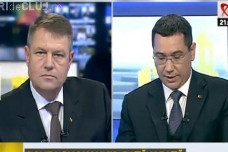 Klaus Iohannis nu știe câți pensionari sunt în România. Ponta l-a pus în dificultate cu cifrele