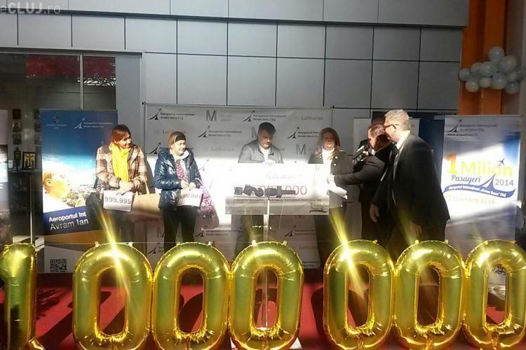 """Aeroportul Internațional """"Avram Iancu"""" din Cluj și-a premiat călătorul cu numărul 1.000.000 FOTO"""