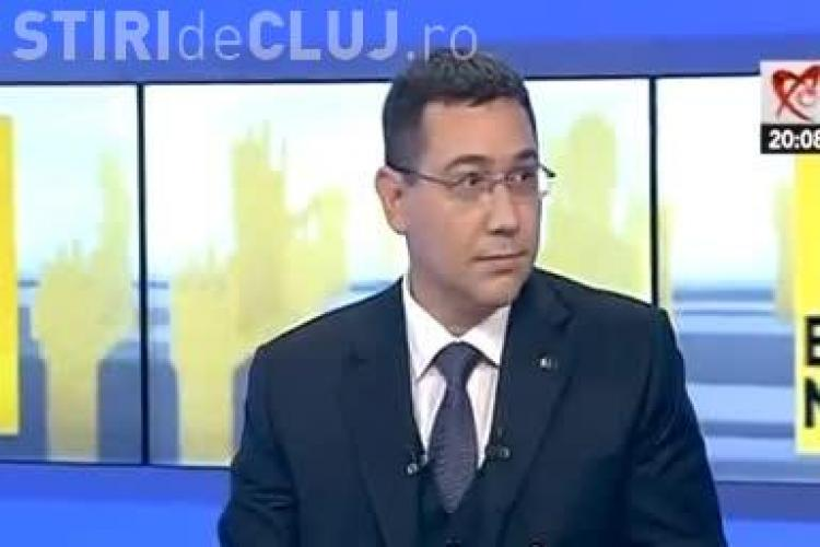 Ponta speriat de explozia unui reflector la dezbaterea cu Iohannis. VEZI REACȚIA - VIDEO