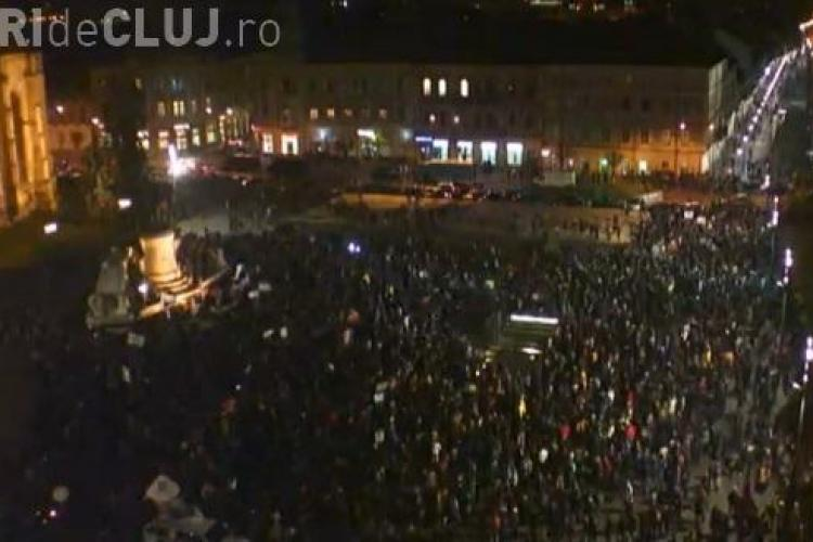 PSD Cluj: Membrii ACL infiltrați în Piața Unirii au confiscat protestul de la Cluj