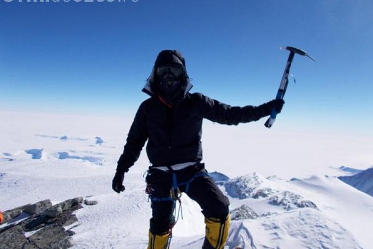Alpinistul clujean Ciprian Pătraşcu a cucerit cel mai înalt vârf din Antarctica - FOTO