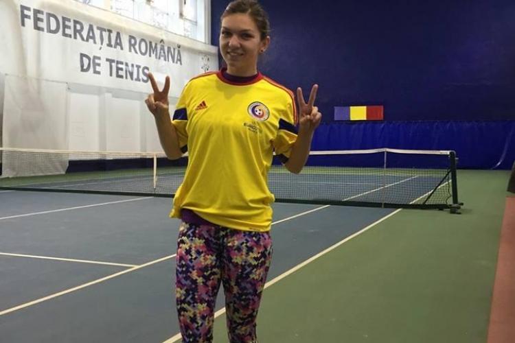 Simona Halep a primit un tricou al naționalei de la Ciprian Marica. Cum i-a mulțumit sportiva