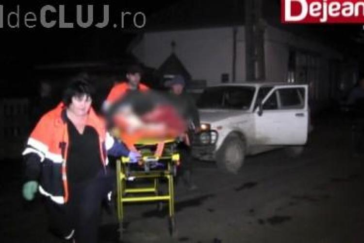 Clujean strivit de un buștean în Măgoaja. Nu a mai putut aștepta ambulanța de durere VIDEO