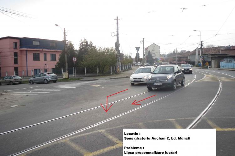 Un consilier local atrage atenția că lucrările rutiere din Cluj-Napoca nu sunt bine semnalizate