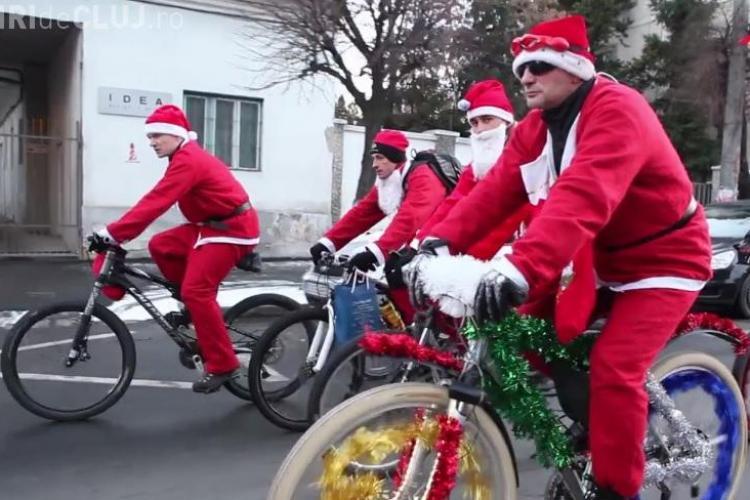 Moș Crăciun vine pe bicicletă la Cluj. Care e traseul CicloMoșului?