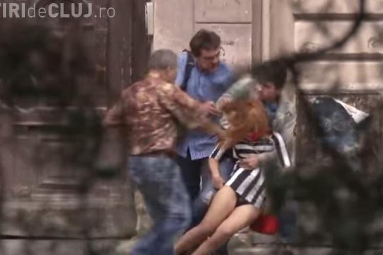 Clujeancă RĂPITĂ în centrul Clujului! AGRESORUL a fost reținut, dar ce a urmat i-a surprins pe toți - VIDEO