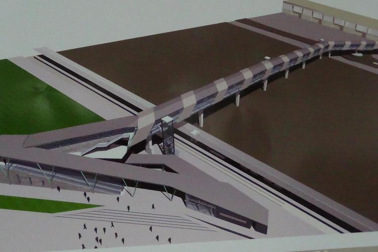 Proiect ambițios la Aeroportul din Cluj-Napoca. Pasarelă de 270 de metri între terminal și Gara CFR - FOTO