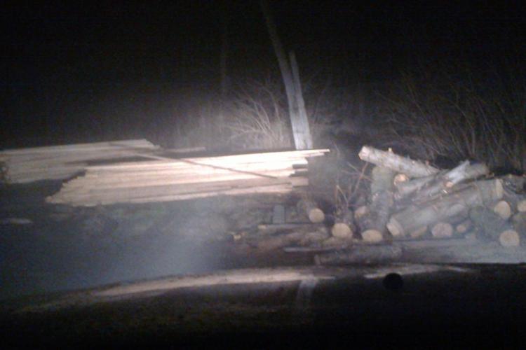 Razie la hoții de lemne clujeni. S-au confiscat lemne de 6.000 lei FOTO
