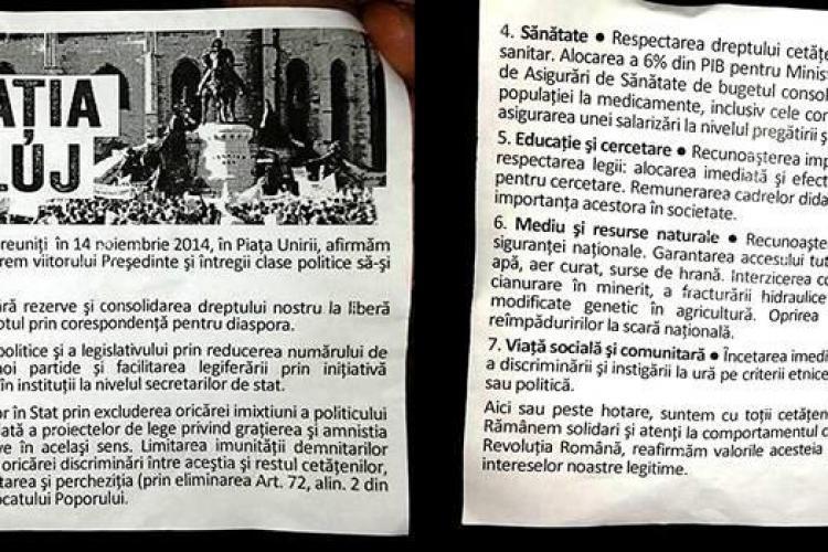 S-a lansat Declaraţia de la Cluj. Ce îi cer clujenii președintelui și clasei politice