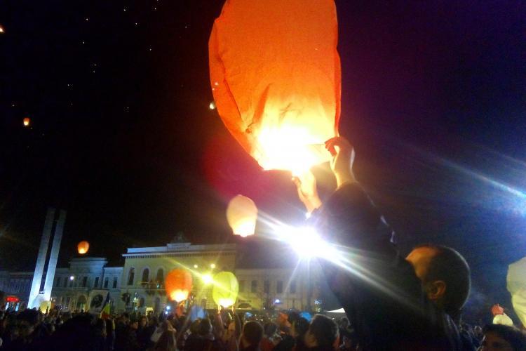 Lampioanele vor lumina cerul în Cluj de ziua Națională. Vezi la ce oră va avea loc evenimentul