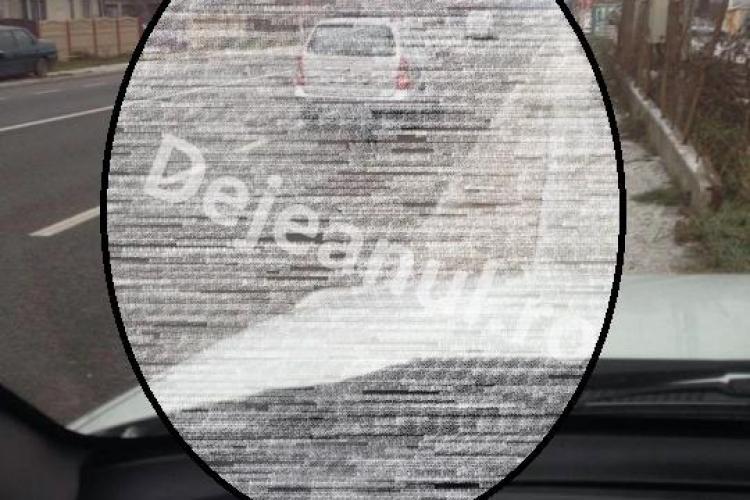Clujean fără SUFLET! Și-a legat câinele după mașină și l-a tras pe drumul național - FOTO