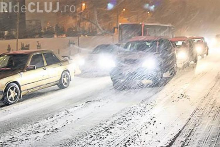 COD GALBEN de zăpadă și viscol la Cluj! Vezi de când încep ninsorile