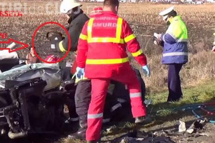 Au fost furați banii șoferului cu Audi A6 mort la intrare în Turda. Lucian Bot, supraviețuitorul, a depus PLÂNGERE