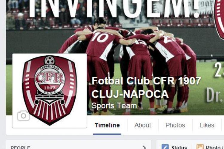CFR Cluj a ajuns la 80.000 de fani pe Facebook