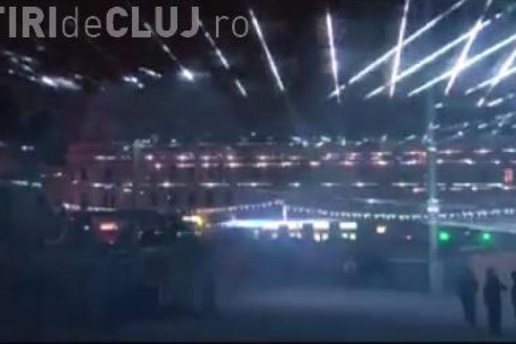 Joc SPECTACULOS de lumini de Revelion în Piața Unirii. Vezi cum va arăta VIDEO