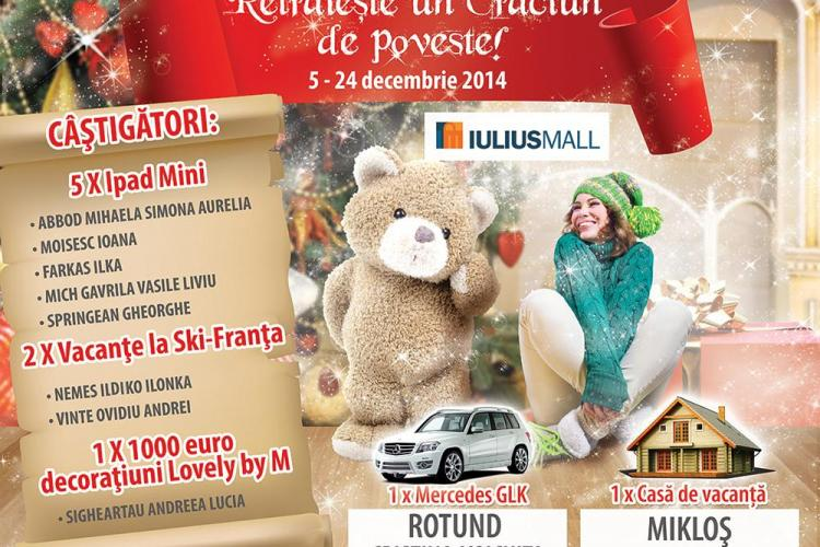Iulius Mall și-a premiat clienții fideli cu o cabană, un Mercedes, vacanțe în Franța și alte surprize. Cine sunt câștigătorii (P)