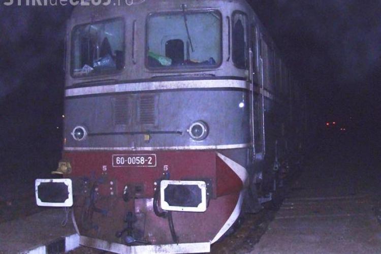 O locomotivă a deraiat la Cluj și a lovit o cireadă de bivoli