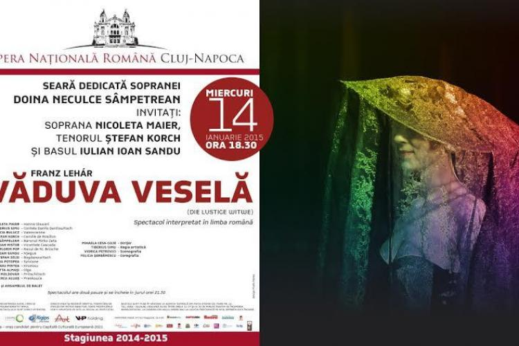 """Spectacolul """"Văduva veselă"""" revine la Opera Naţională Română din Cluj"""