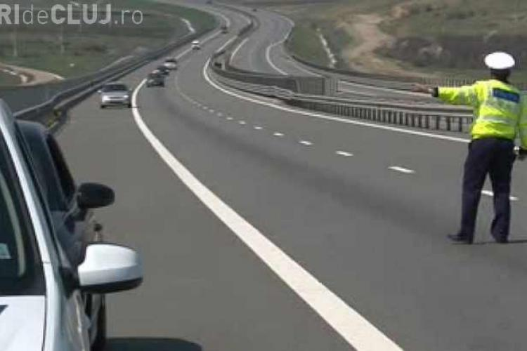 A fost prins cu 208 km/h pe Autostrada Transilvania. Venea acasă din Italia
