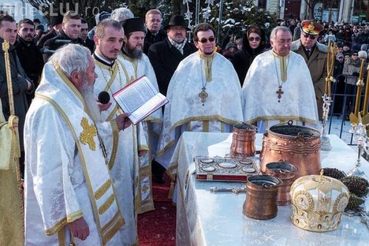 Slujba Bobotează la Cluj! Mii de clujeni s-au înghesuit la aghiasmă. Ce OBICEI au păstrat clujenii