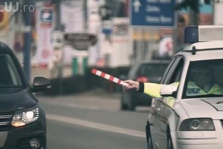 Razie în trafic la Cluj! 700 de șoferi și 41 de biciliști amendați