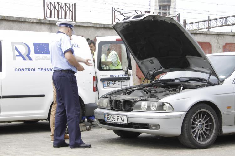 Cluj: 5% dintre mașinile oprite în trafic de RAR prezentau pericol iminent de accident