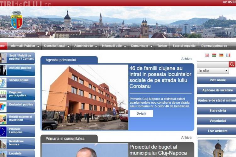Un consilier local îi spune lui Boc că site-ul Primăriei Cluj-Napoca e inferior celui din Sibiu