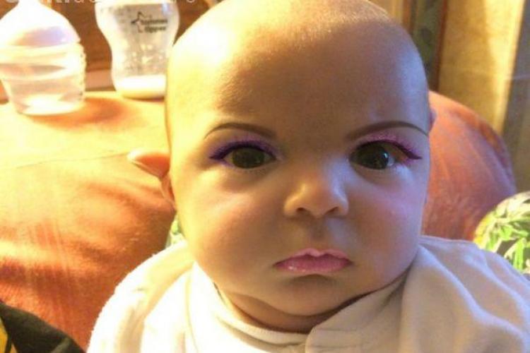 Pozele unui copil i-au speriat pe internauţi - FOTO
