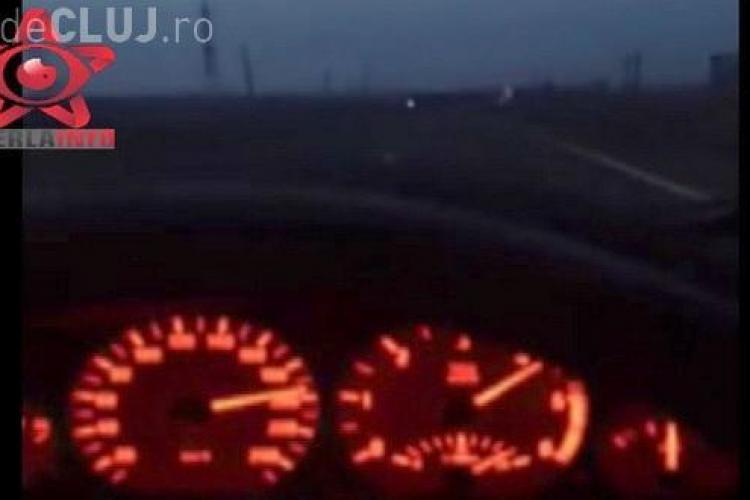 Un clujean s-a filmat în timp ce mergea cu BMW-ul cu 200 km/h pe drumul Cluj-Gherla VIDEO
